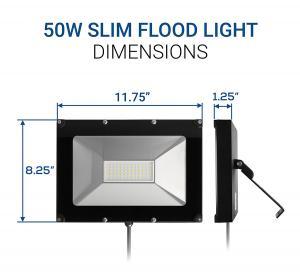 Quality 50W 120lm / w Waterproof LED Flood Lights IP65 100-277V CE UL DLC Listed for sale