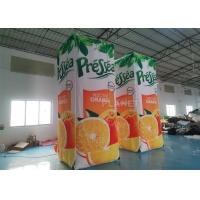 China Orange Juice Drink Inflatable Advertising Bottle For Event wholesale