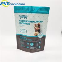 China Stand Up Self Supporting Dog Food Pouches Zipper Lock Resealable Food Packaging wholesale