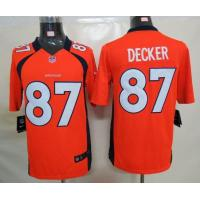 China Nike Nike Denver Broncos 87 Eric Decker Orange Limited Jerseys wholesale