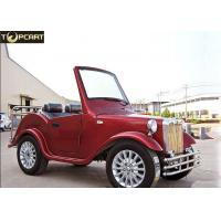 China Aluminum Chassis Electric Classic Cars , Custom Club Car Golf Carts 2 Passenger wholesale