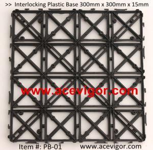 China PB-01 Interlocking Floor Deck Plastic Tile Base wholesale