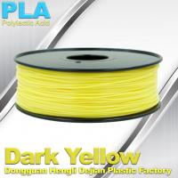 China Makerbot Material Fluorescent Dark Yellow PLA 3d Printer Filament 1.75mm / 3.0mm wholesale