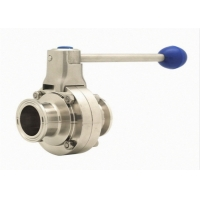 China 316L Tri Clamp Double Flanged Butterfly Valve Stainless Steel 304 wholesale