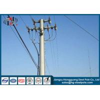 High Voltage 220KV Electrical Power Pole 15-60m For Power Transmission Project