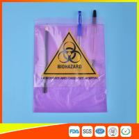 Medical / Laboratory Specimen Transport Bags Plastic Resealable With Document Pouch