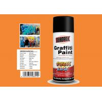 China MSDS Graffiti Spray Paint , Outdoor Spray Paint With  Orange Yellow Color wholesale