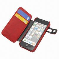 China Leather Case for iPhone 5, MOQ of 100pcs, Various Colors are Available  wholesale