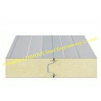 China PU 150mm 200mm Sandwich Wall Panels With Excellent Gloss Retention wholesale