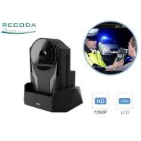 China 1296P Cycle Recording Police Body Worn Camera Night Vision GPS Replaceable Battery wholesale