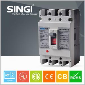 China 3 / 4 Poles Molded Case Earth Leakage Circuit Breaker 100 Amp 3P MCCB wholesale