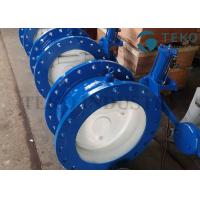 China Quick Closing Silent Tilted Swing Check Valve Ductile Iron Body With Counterweight Hydraulic Damper on sale