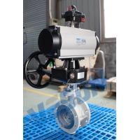 China Pneumatic Actuator Operated Butterfly Valve Flanged Type Double Acting / Spring Return on sale