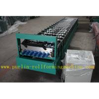 China Corrugated Roof Wall Cladding Cold Roll Forming Machine With PLC System 0.3mm - 0.8mm wholesale