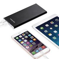 Quality Light Weight Super Slim Lithium Polymer Power Bank Lightning Input  Fast Charge Backup Battery for sale