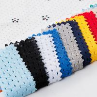 China Textile Supplier Bright Polyester Small Hole Mesh Fabric on sale
