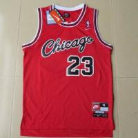 Quality NBA Chicago Bulls #23 Michael Jordan Black Red Strip Jersey for sale