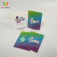 China Hologram Laser Snack Bag Packaging Childproof Zip Lock Window Pouch For Cosmetics wholesale
