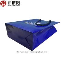 China customized logo for Paper Bag Stand Up  Hand Lenth Handle For Shopping wholesale