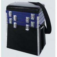 China Alu. Frame Fishing Seat Boxes with Leatherette Padded Seat STBX002 wholesale