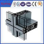 China thermal insulated aluminium profiles manufacturer, ODM aluminium curtain wall profiles wholesale