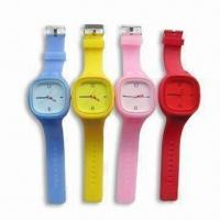 China Jelly Watches, Made of Silicone, Flexible and Stylish, Available in Various Colors wholesale