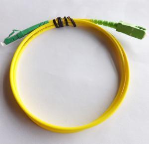 China LC / APC - SC / APC - SM - SX-3.0mm-5mtrs-Ofnp Optical Fiber Patch Cord Yellow Fiber Patch Cables wholesale