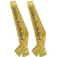 China Yellow / Rose Red Custom Award Ribbons Ink Printing For Birthday Party wholesale