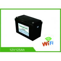 China Auto Start Deep Cycle Lithium Battery 12V 125Ah LiFePO4 Material With WIFI Function wholesale