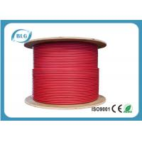 PVC Sheath Red Cat 7 Lan Cable For Analog And Data Video High Strength