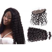 China Virgin Water Wave Hair With Frontal , 10A Malaysian Bundles With Frontal wholesale