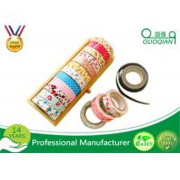 China Printed Waterproof Masking Tape , Washi Colored Paper Masking Tape For Kid wholesale