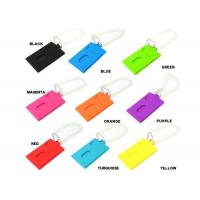 China Colorful Silicone Key Chain For Travel Luggage Tag Bag Label , Multifunction wholesale