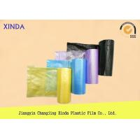 Quality Star sealed blue red yellow green purple pink plastic HDPE garbage bags customized for sale