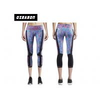 China Logo Customized Sport Compression Clothing Yoga Pants 3 / 4 Length For Gym wholesale