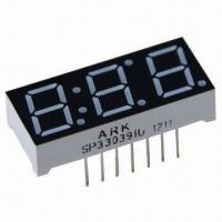 China 0.39 Inch 7 Segment Numeric LED Display for Three Digits, Used for Digital Indicators wholesale