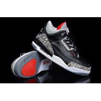 China cheap air jordan shoes for sale gunuine leather black grey on sale