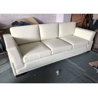 China 3 Seater Hotel Furniture Sleeper Sofa Handcrafted Microfiber Leather wholesale