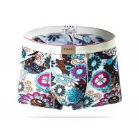 China Low Waist Short Stretch Mens Patterned Underwear , Nylon Male Boxer Briefs wholesale