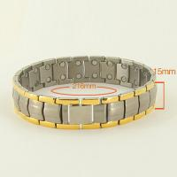 China Jewelry stainless steel health germanium energy braclet,bio jewelry,anion braceltet wholesale
