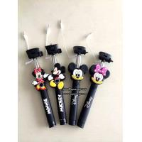 China 3D Cartoon Extendable Handheld Selfie Stick Monopod with Silicone Handle wholesale