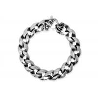 China Durable Never Fade Chunky Chain Link Bracelet Punk Rock Jewelry For Men New Casual Design on sale