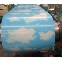 China Water Heater Prepainted Steel Coil Sky Pattern 3D Printing Provided Protection Film on sale