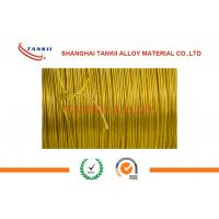 China 0.6mm Teflon Insulation Silver Thermocouple Cable With Kapton Film Jacket wholesale