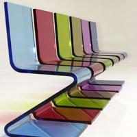 Quality Eco-Friendly Colored Clear Acrylic Chairs For Business Gift , Laser Cutting for sale