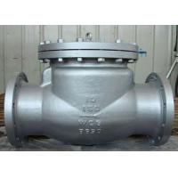 China Stable Performance Cast Check Valve , CS and SS Swing Check Valve on sale