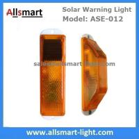 China Amber Solar Road Guardrail Warning Light Construction Column Stroboscopic Lamp Stormlight Stack Taillight Obstacle Lamp wholesale