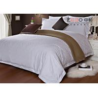 China Ripple Satin Design Hotel White Bed Linen 100 Cotton OEM / ODM Available wholesale