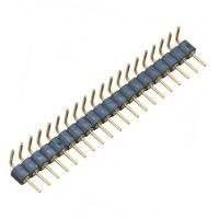 China WCON Round Pin Header / 1*20P Ninety Degrees 2.54 Mm Pin Connector wholesale