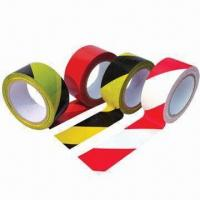 China PVC marking tape with rubber adhesive wholesale